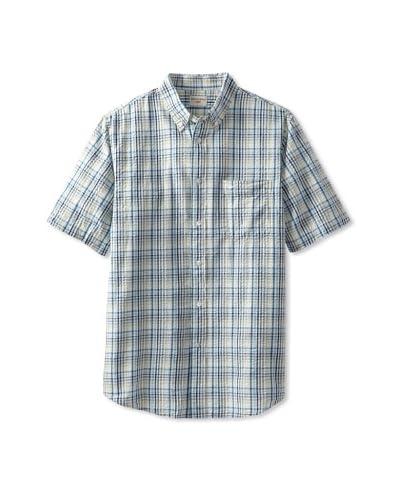 Dockers Men's Seersucker Plaid Shirt