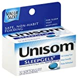 Unisom Nighttime Sleep-Aid, 50 mg, Liquid Filled Softgels 32 softgels