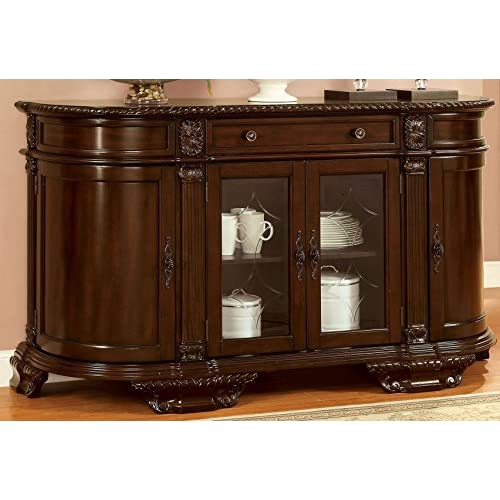 Bellagio English Style Brown Cherry Finish Buffet Server Cabinet