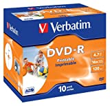 Verbatim 43521 - DVD-R 16X 10 PACK J/CASE PRINTABLE