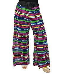 Jazzy Ben Printed Lycra Net Pallazo Pants for Women