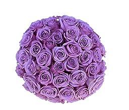 2 Dozen Farm Fresh Purple Roses Bouquet By JustFreshRoses   Long Stem Fresh Purple Rose Delivery   Farm Fresh Flowers
