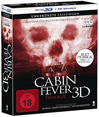 Cabin Fever 1-3 - Komplettbox mit allen 3 Teilen (3 3D Blu-rays) [3D Blu-ray + 2D Version]