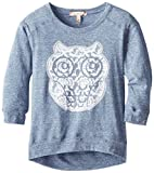 Speechless Big Girls Pullover with Lace Owl