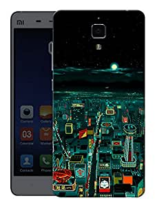 "Humor Gang Tech City Printed Designer Mobile Back Cover For ""Xiaomi Redmi Mi4"" (3D, Matte, Premium Quality Snap On Case)"