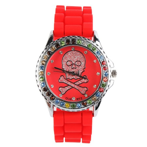 Yesurprise New Classic Trendy Crystal Rubber Jelly Silicone Lady Girls Casual Sport Wrist Watch for Graduation Party Gift Trendy #3