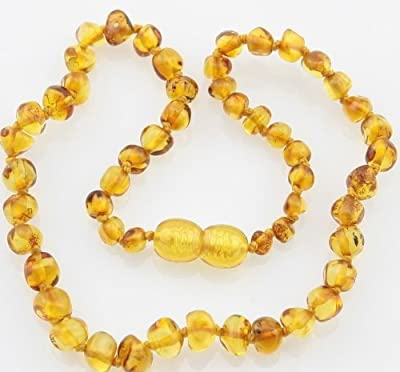 Bouncy Baby Boutique(TM) Baltic Amber Teething Necklace - N23 Baroque Lemon from Bouncy Baby Boutique(TM)