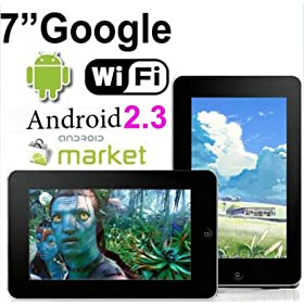 7 inch Android 2.3 Touchscreen Tablet PC Google 3G WiFi MID 4GB capactiy (Peach color)
