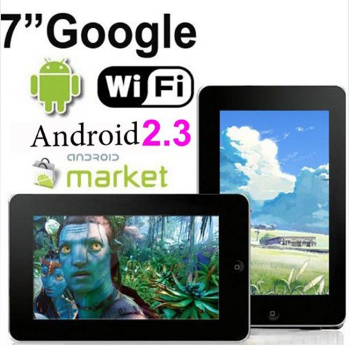 Christmas 7 inch Android 2.3 Resistive Touchscreen Tablet PC Google 3G WiFi MID 4GB capactiy (Silver color) Deals