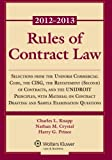 img - for Rules of Contract Law 2012-2013 Statutory Supplement book / textbook / text book