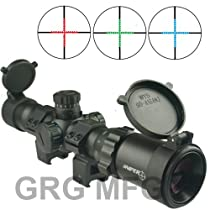 Sniper Compact 1-4x28 Long Eye Relief 30mm Scope Mil-Dot Premium Scope Rings Included