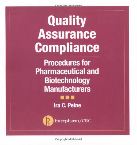 Quality Assurance Compliance: Procedures for Pharmaceutical and Biotechnology Manufacturers