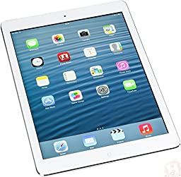 Factory Unlocked Apple iPad AIR (32GB, Wi-Fi + 4G LTE, White with Silver)