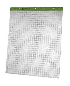 Ampad 24-032R Evidence Flip Chart Pads Ruled with 1-Inch Squares, 27x34, 50 Sheets Per Pad, 2 Pads Per Pack