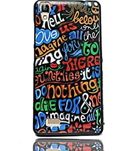 ECellStreet Printed Sparkle Back Case Cover Back Cover For Panasonic T50 -There