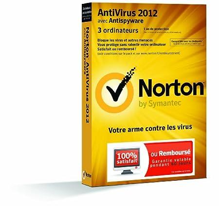 Norton antivirus 2012 (3 postes, 1 an)