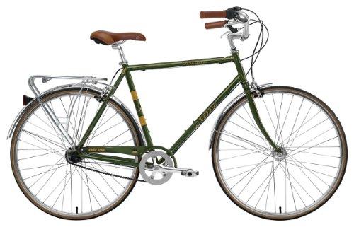 Nirve Men's Wilshire 3-Speed Euro Sport Bike (Green, 19-Inch Frame - 700C Wheels)