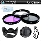 67MM Professional Accessory Kit for CANON REBEL T5i T4i T3i T3 T2i, EOS 60D EOS 70D 7D 6D with 18-135mm EF-S IS STM Lens - Includes: 3pc Filter Kit (UV, CPL, FLD) + Carry Case + Tulip Lens Hood + Snap On Lens Cap + Cap Keeper Leash + ButterflyPhoto Cloth