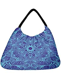 Snoogg Blue And Purple Beach Tote Shopper Bag Handbag Shoulder