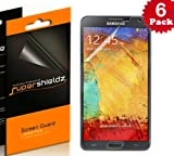 SUPERSHIELDZ- High Definition (HD) Clear Screen Protector For Samsung Galaxy Note 3 III [6-PACK] + Lifetime Replacements Warranty (AT&T, Verizon, Sprint, T-mobile, All Carriers)- Retail Packaging