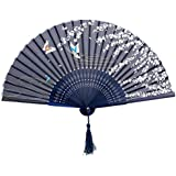 1xJapanese Design Silk Handheld Folding Fan