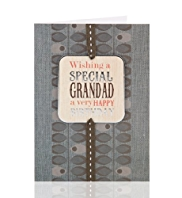 Embossed Grandad Birthday Card