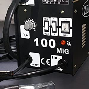 F2C Flux Core Welder Welding Machine Gas/No Gas Welder (MIG-100) by F2C