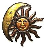 Celestial Sun Moon Wall Art Hanging Metal Plaque 20