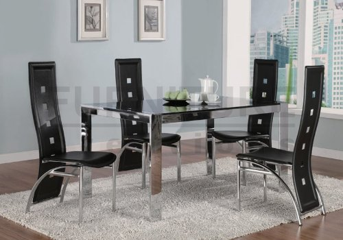 Dining Table Broward Rectangular Dining Table with Tinted Glass by