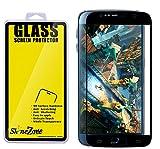 【ShineZone】全3色 Samsung Galaxy S6 専用強化ガラスフィルム 0.3mm 【全画面貼る可能】超薄型.表面硬度9H・ラウンド処理・飛散防止処理・ 高透過率 ・撥油性保護フィルム(ブラック) の中古画像
