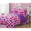 Twin Geo Circles Reversible Comforter Bedding Set