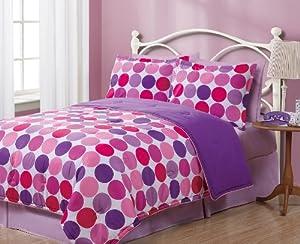 Twin Geo Circles Reversible Comforter Bedding Set