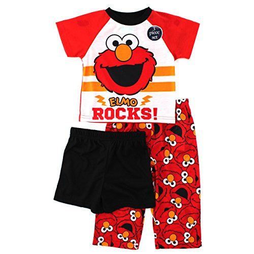 Sesame Street Elmo Toddler 3 pc Pajamas Set