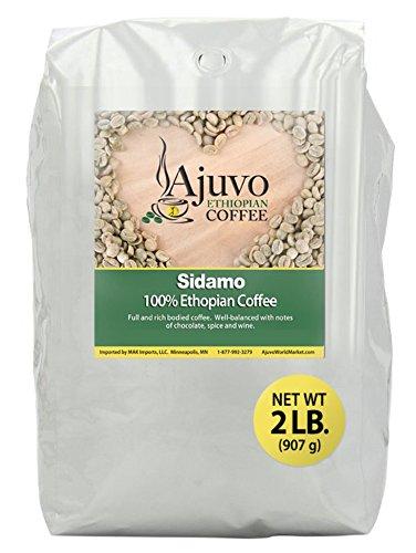 Ethiopian Sidamo Coffee - Green, Unroasted Whole Bean (2 Lb.)