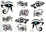 2012 Newest Halloween Christmas Eyes Charm Seduce Captivation Evil Temporary Tattoos