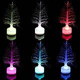 Juenana Colorful LED Optic Nightlight Christmas Tree Lamp Light Children Xmas Gift decor