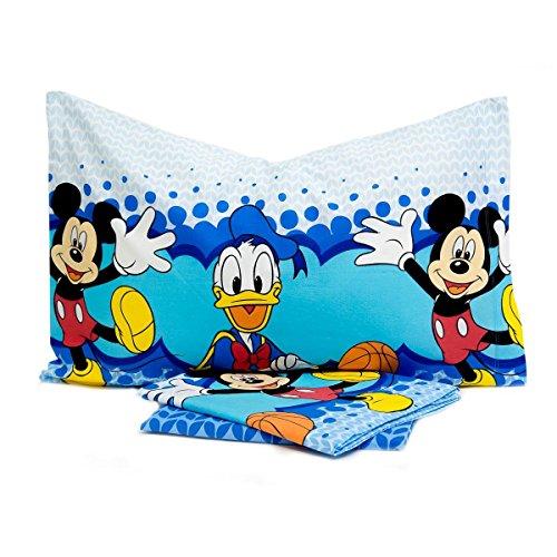 Completo lenzuola Topolino Mickey Happy Disney cotone Singolo una piazza N499
