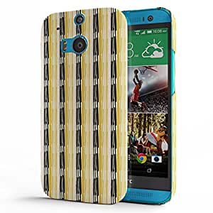 Koveru Designer Printed Protective Snap-On Durable Plastic Back Shell Case Cover for HTC One M8 - Wooden pattern