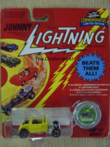 Johnny Lightning Die-Cast Classic '32 Roadster Car Yellow Series H W/ Collectible Coin