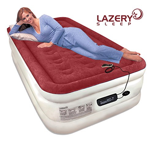 Lazery Sleep Air Mattress Airbed with Built-In Electric 7 Settings Remote LED Pump (Sleep Number Air Mattress compare prices)