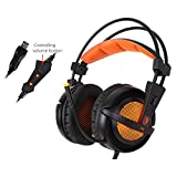 Sades A6 7.1 Surround Sound USB Stereo Gaming Headphones Over Ear Noise Isolating Breathing LED Lights Headset For PC Gamer