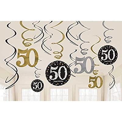 Sparkling Celebration 50 Hanging Swirls