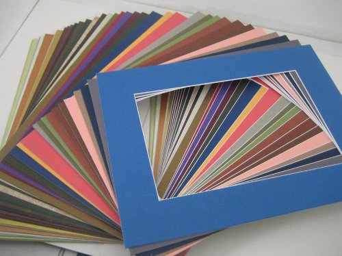 Golden State Art, Pack of 20 MIXED COLORS 11x14 Picture Mats Matting with White Core Bevel Cut for 8x10 Pictures (Matting Frame compare prices)