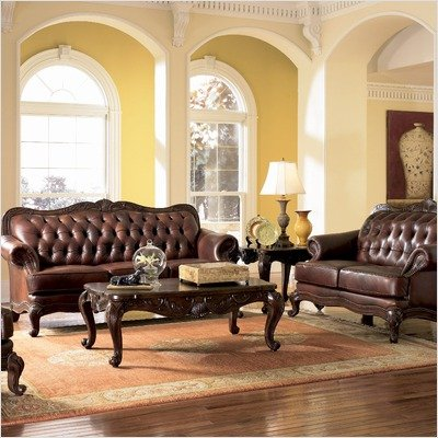 Valencia 3 Piece Leather Living Room Set with Free Coffee Table