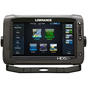 Lowrance HDS-9 Gen2 Touch Insight w  83 200 and LSS-2 Transom Mount Transducers by Lowrance