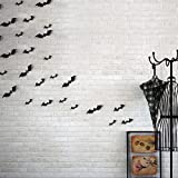 Baomabao 12pcs Black 3D DIY PVC Bat Wall Sticker Decal Home Halloween Decoration