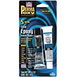 Permatex 84201 PermaPoxy 5 Minute General Purpose Epoxy, Two 0.6 oz. Tubes