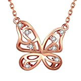 Fashion Jewelry Necklace Pendant Cute Animal Shape Trendy Sika Giraffe Deer Fish Fox of Rose Gold Plated