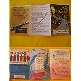Folleto Publicidad - Advertising Brochure: LA CARRETERA Y EL TREN. ESPAÑA 1952