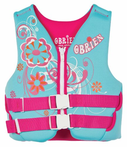 Obrien Youth Neoprene Vest (Light Blue/Pink, 50-90 - Pound)